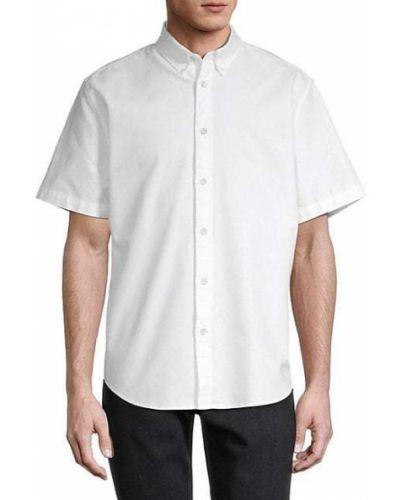 Biała koszula krótki rękaw bawełniana Rag & Bone