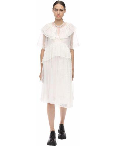 Кружевное платье - белое Simone Rocha