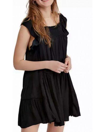 Платье свободного кроя - черное Free People