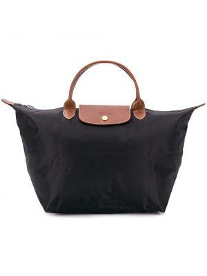 Złota czarna torebka średnia Longchamp