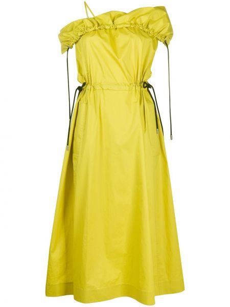 Платье миди на молнии с открытыми плечами 3.1 Phillip Lim