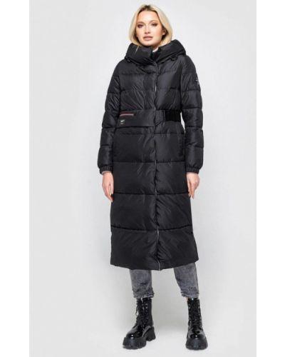 Утепленная черная куртка Clasna