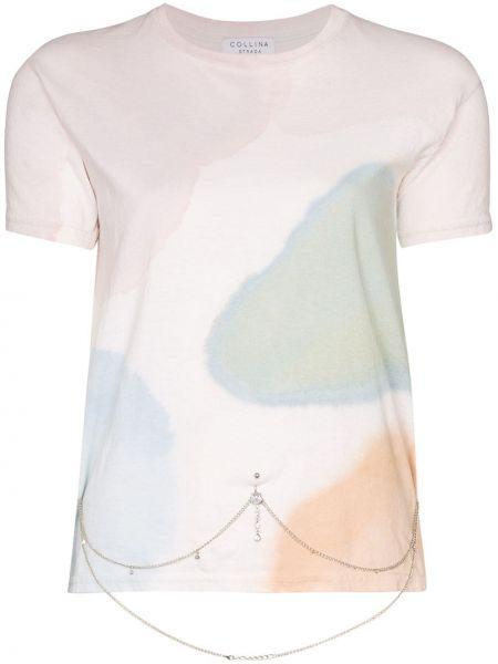 Klasyczna koszula biała z krótkim rękawem Collina Strada