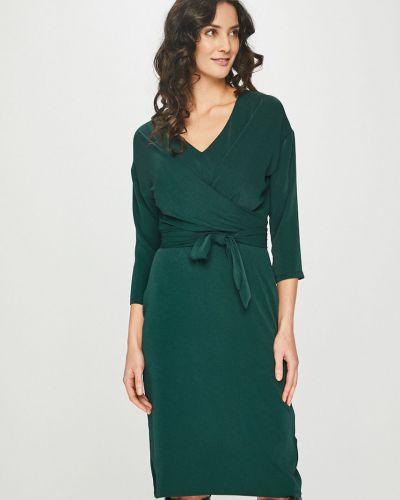 Платье миди с V-образным вырезом трикотажное Answear