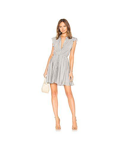 Платье с поясом серое на пуговицах Bcbgeneration