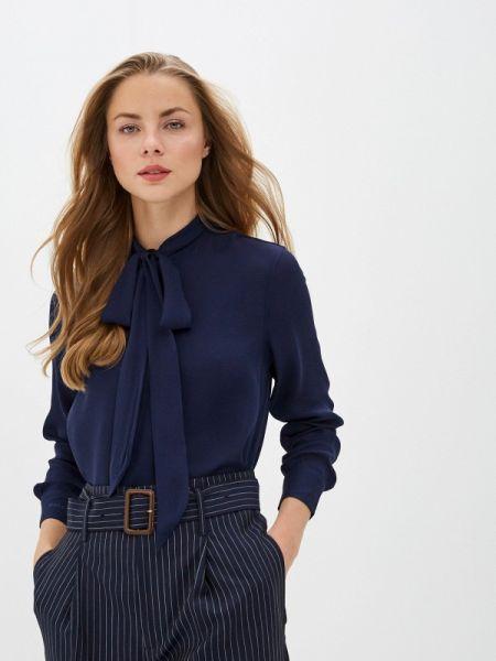 Блузка с бантом синяя Polo Ralph Lauren