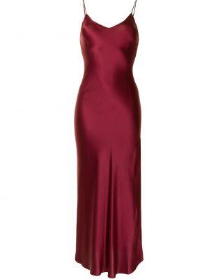Sukienka długa z jedwabiu bez rękawów z dekoltem w serek Dannijo