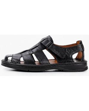Черные кожаные сандалии Gut