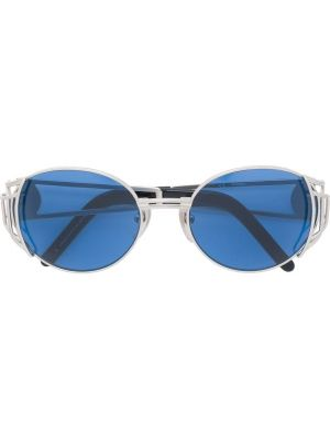 Прямые желтые солнцезащитные очки круглые металлические Jean Paul Gaultier Pre-owned