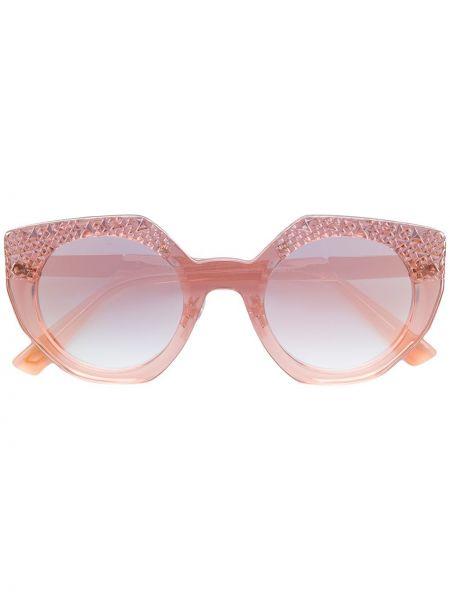 Деловые розовые солнцезащитные очки металлические Diesel