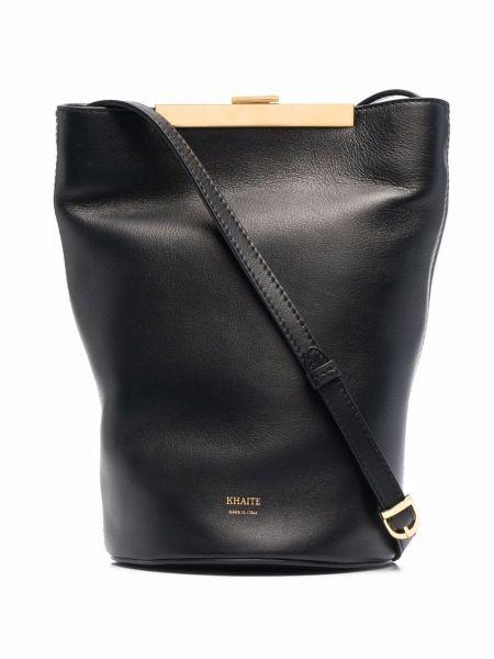 Черная кожаная сумка Khaite