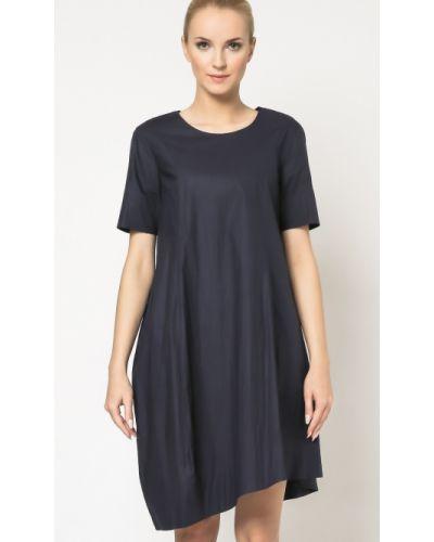 Niebieska sukienka materiałowa Deni Cler Milano