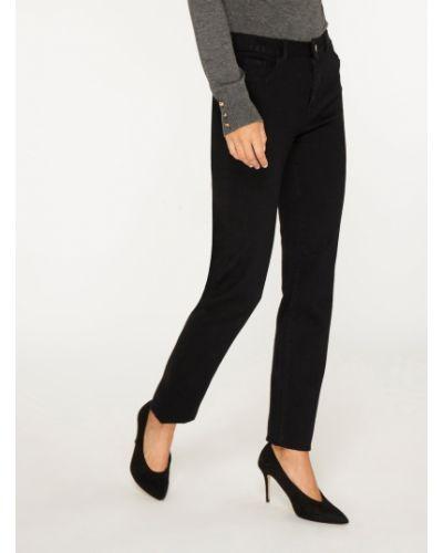 Mom jeans materiałowe - czarne Dorothy Perkins
