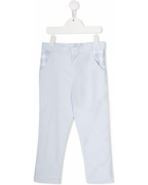 Хлопковые синие брюки с карманами на молнии Patachou