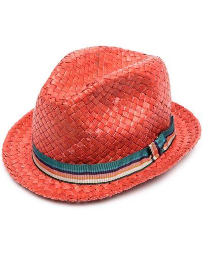 Красные соломенные шляпа без застежки Paul Smith