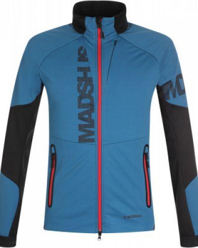 Синяя куртка для бега с капюшоном Madshus