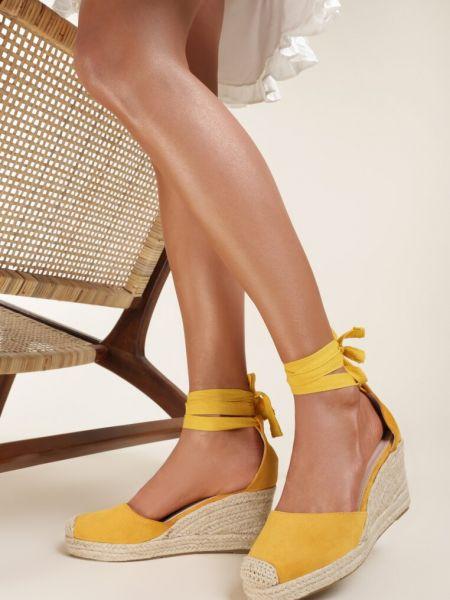 Żółte espadryle Renee
