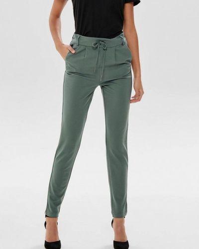 Зеленые брюки повседневные Only