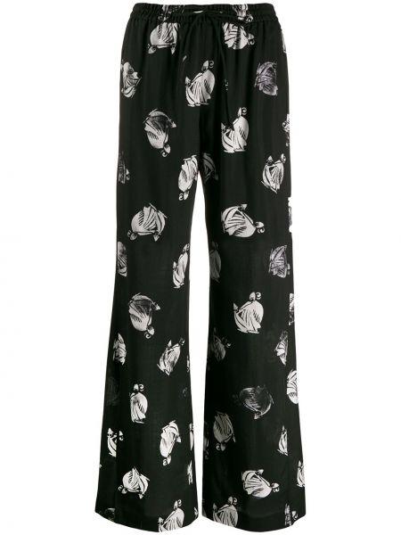 Свободные брюки палаццо с карманами Lanvin