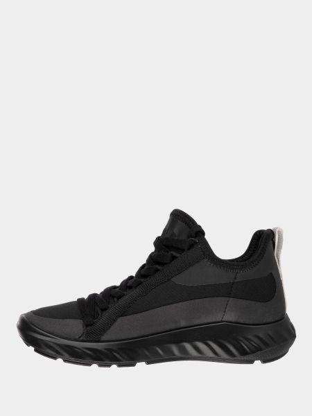 Текстильные черные кроссовки на шнурках Ecco