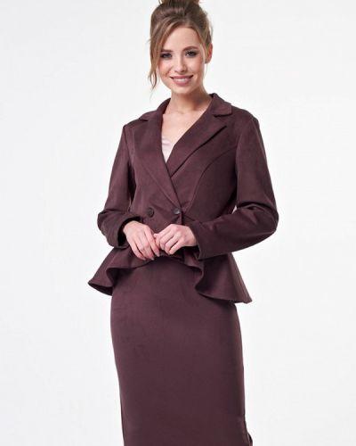 Юбочный костюм коричневый Irma Dressy