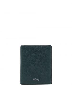 Zielony portfel skórzany Mulberry