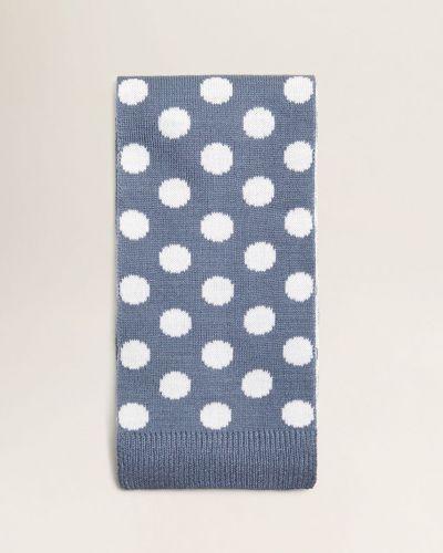 Синий шарф трикотажный Mango Kids
