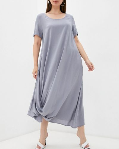 Повседневное серое платье Vivostyle
