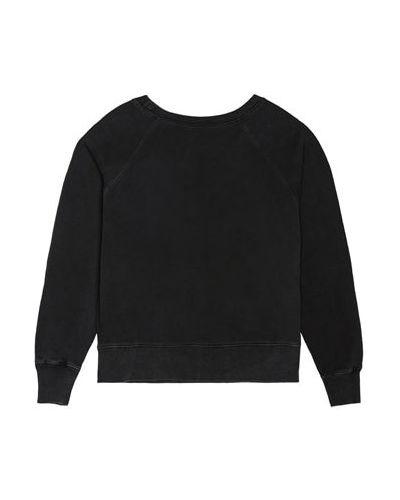 Czarna bluza z nadrukiem bawełniana z printem Madeworn