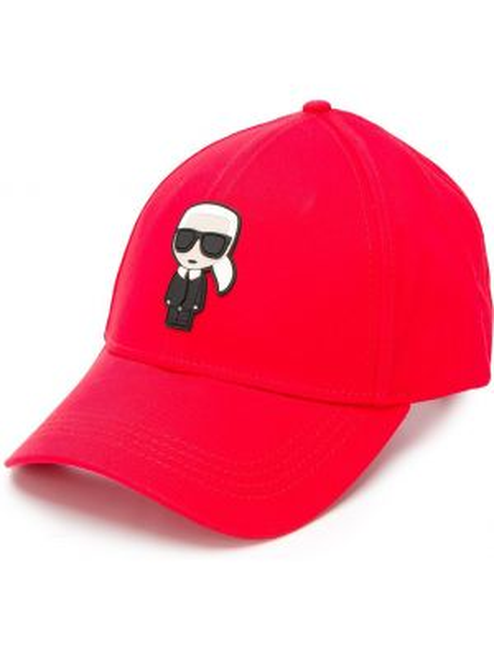 Кепка красная с прямым козырьком Karl Lagerfeld
