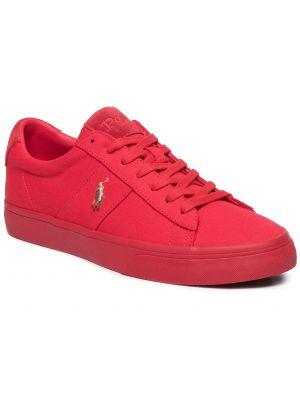 Zamsz czerwony koszulka polo Polo Ralph Lauren