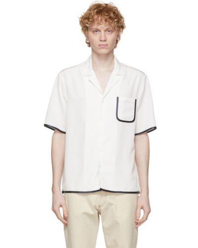 Biała koszula krótki rękaw bawełniana Daniel W. Fletcher