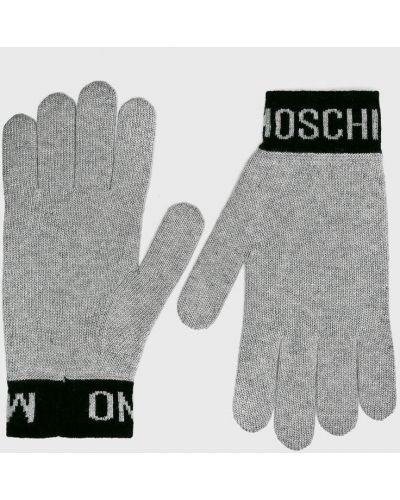Перчатки шерстяные текстильные Moschino