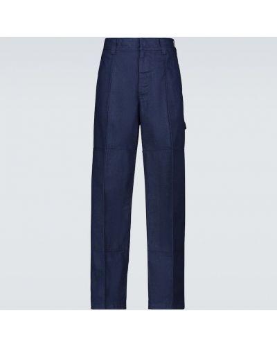 Niebieskie spodnie skorzane na co dzień Acne Studios