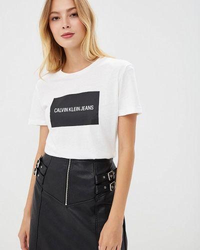 Футболка белая Calvin Klein Jeans