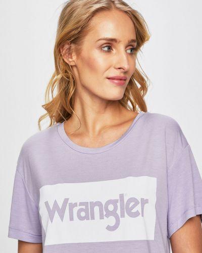 Футболка из вискозы фиолетовый Wrangler