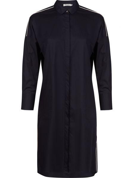 Хлопковое черное платье на пуговицах Maerz