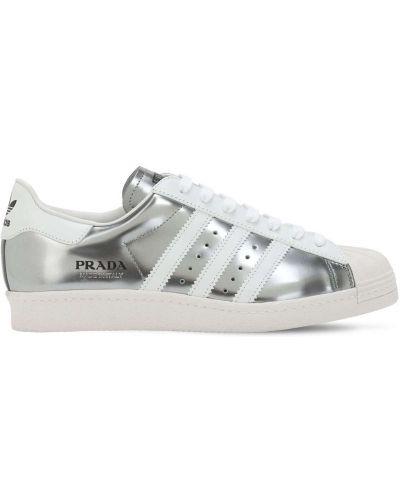 Sneakersy skorzane sznurowane koronkowe Adidas X Prada