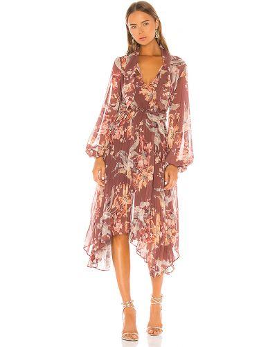 Brązowa sukienka midi na co dzień Keepsake