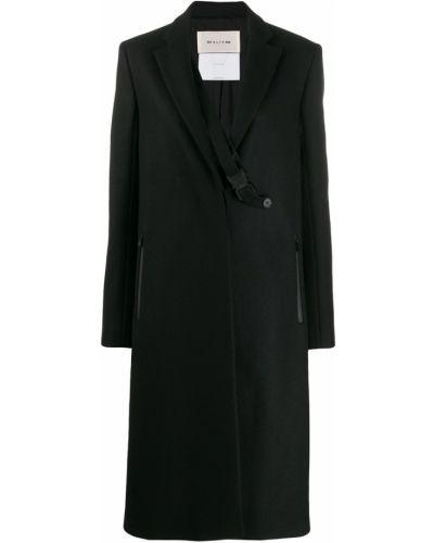 Черное пальто классическое с капюшоном на пуговицах 1017 Alyx 9sm