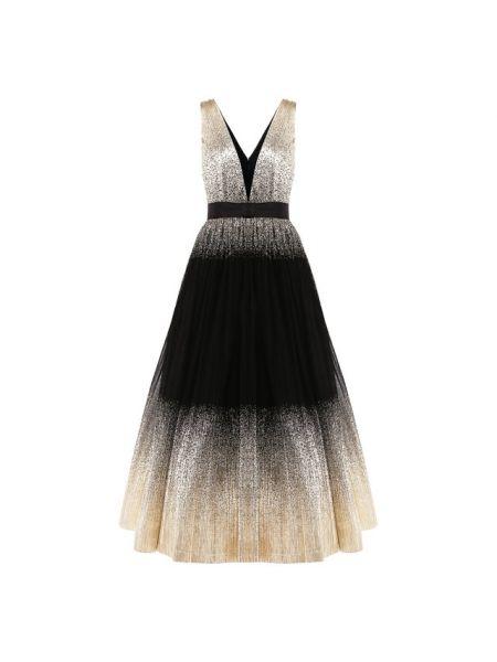 Нейлоновое платье с подкладкой с декоративной отделкой Jenny Packham