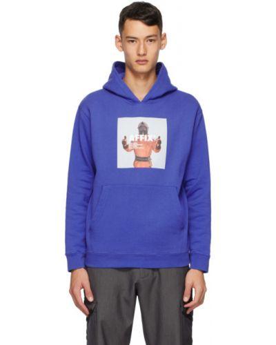 Хлопковая синяя толстовка с карманами с манжетами Affix
