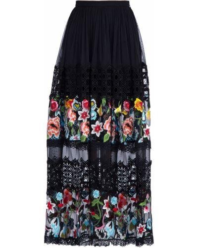 Юбка макси с вышивкой кружевная Charo Ruiz Ibiza