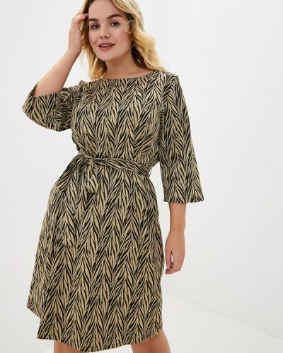 Повседневное платье осеннее золотой Junarose