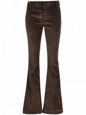 Коричневые брюки вельветовые Dondup