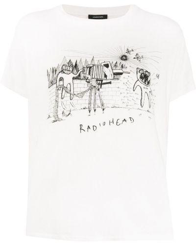 Рубашка с коротким рукавом белая с принтом R13