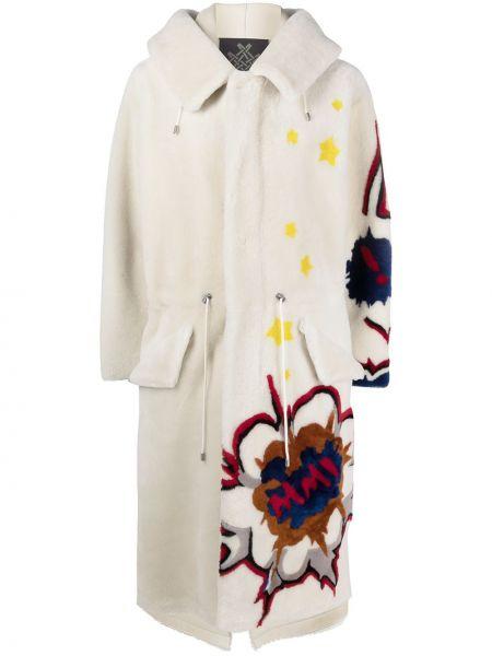 Пальто из овчины - белое Mr & Mrs Italy