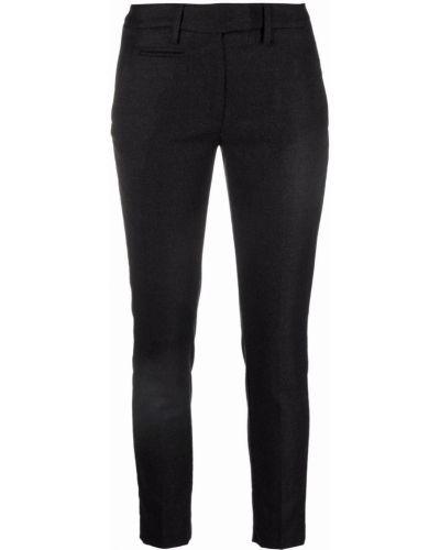 Черные брюки с поясом Dondup