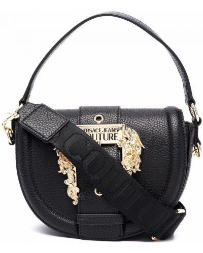Кожаная сумка - черная Versace Jeans Couture