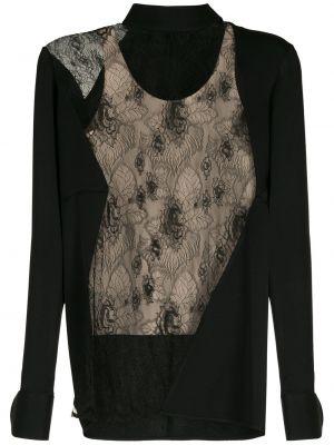 Кружевная блузка - черная Gloria Coelho